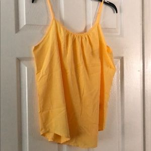 Faded glory yellow spaghetti strap top